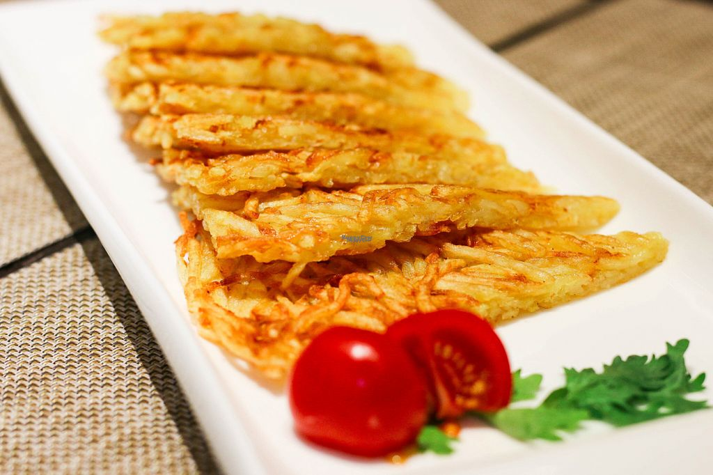 """Photo of CLOSED: Old Wood Village  by <a href=""""/members/profile/myvegandubai"""">myvegandubai</a> <br/>Lotus Root Pancakes <br/> September 14, 2016  - <a href='/contact/abuse/image/80046/175601'>Report</a>"""