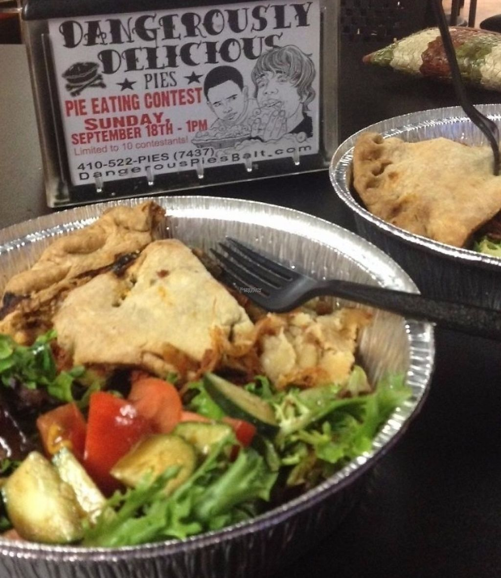 """Photo of Dangerously Delicious Pies  by <a href=""""/members/profile/veggie_htx"""">veggie_htx</a> <br/>Ratatouille pie with side salad <br/> September 13, 2016  - <a href='/contact/abuse/image/80074/201676'>Report</a>"""