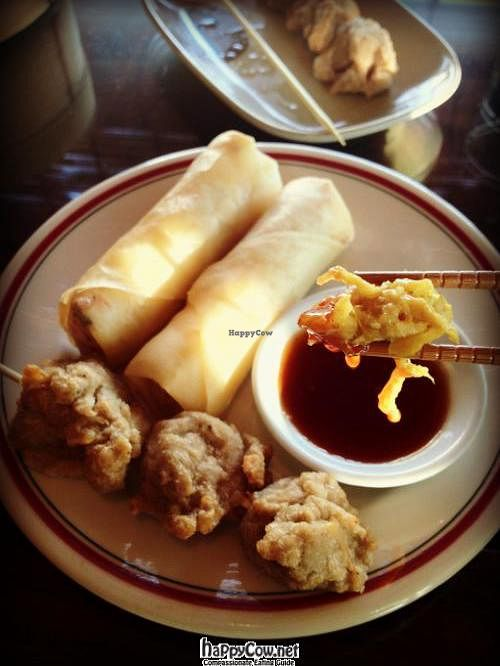 """Photo of Zen Gardens - Moncton  by <a href=""""/members/profile/TrayLanna"""">TrayLanna</a> <br/>Spring Rolls / Soy Nuggets <br/> June 11, 2012  - <a href='/contact/abuse/image/8007/33219'>Report</a>"""
