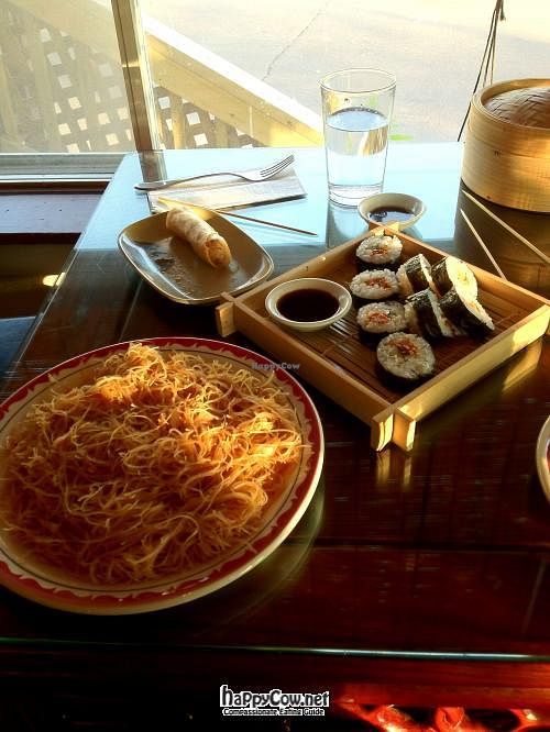 """Photo of Zen Gardens - Moncton  by <a href=""""/members/profile/TrayLanna"""">TrayLanna</a> <br/>Noodles and Veggie Sushi <br/> June 11, 2012  - <a href='/contact/abuse/image/8007/33220'>Report</a>"""
