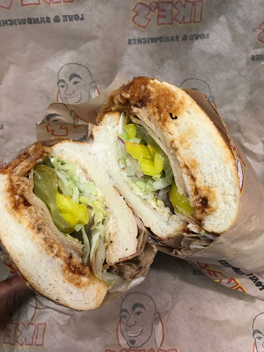 "Photo of Ike's  by <a href=""/members/profile/glassesgirl79"">glassesgirl79</a> <br/>Green goblin vegan turkey sandwich  <br/> February 4, 2018  - <a href='/contact/abuse/image/80090/355008'>Report</a>"