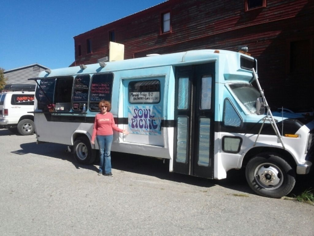 """Photo of Soul Picnic - Food Truck  by <a href=""""/members/profile/dancingvegan"""">dancingvegan</a> <br/>Me standing in front of the truck! <br/> November 25, 2016  - <a href='/contact/abuse/image/80094/194089'>Report</a>"""