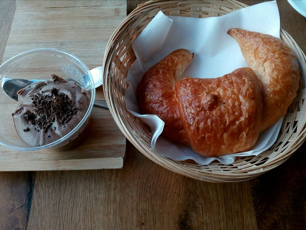 """Photo of Vege Cafe  by <a href=""""/members/profile/wyrd"""">wyrd</a> <br/>chocolate musse with vegan croissant <br/> March 16, 2018  - <a href='/contact/abuse/image/80123/371349'>Report</a>"""