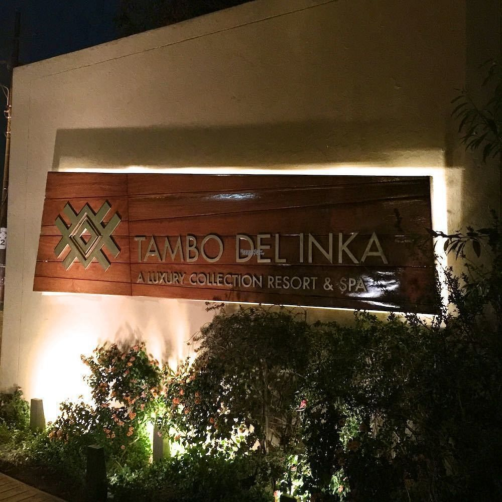 """Photo of Hawa - Tambo del Inka  by <a href=""""/members/profile/earthville"""">earthville</a> <br/>The sign, from the street <br/> September 16, 2016  - <a href='/contact/abuse/image/80135/176046'>Report</a>"""