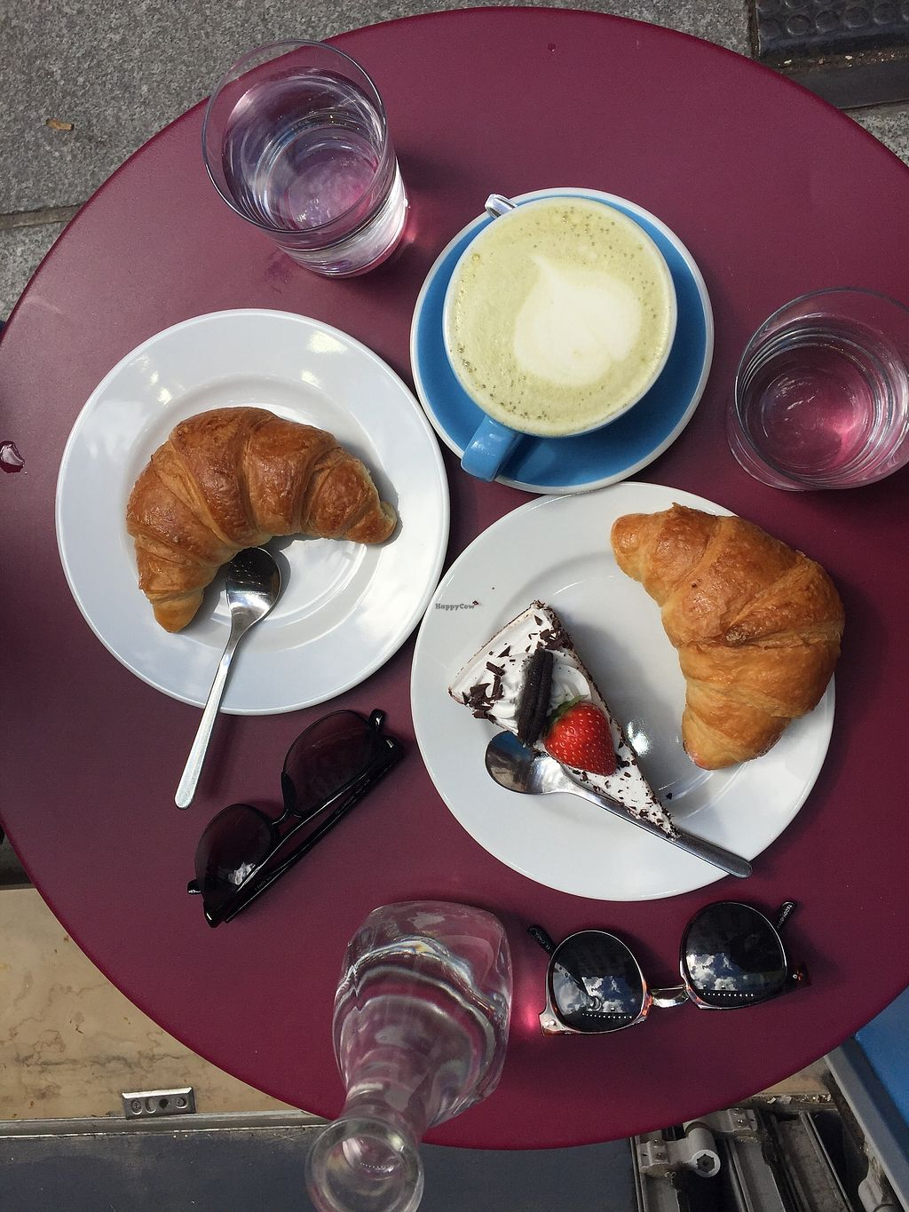 "Photo of Cloud Cakes  by <a href=""/members/profile/alice28"">alice28</a> <br/>Matcha latte, vegan croissants and chocolate cake <br/> March 1, 2018  - <a href='/contact/abuse/image/80175/365386'>Report</a>"