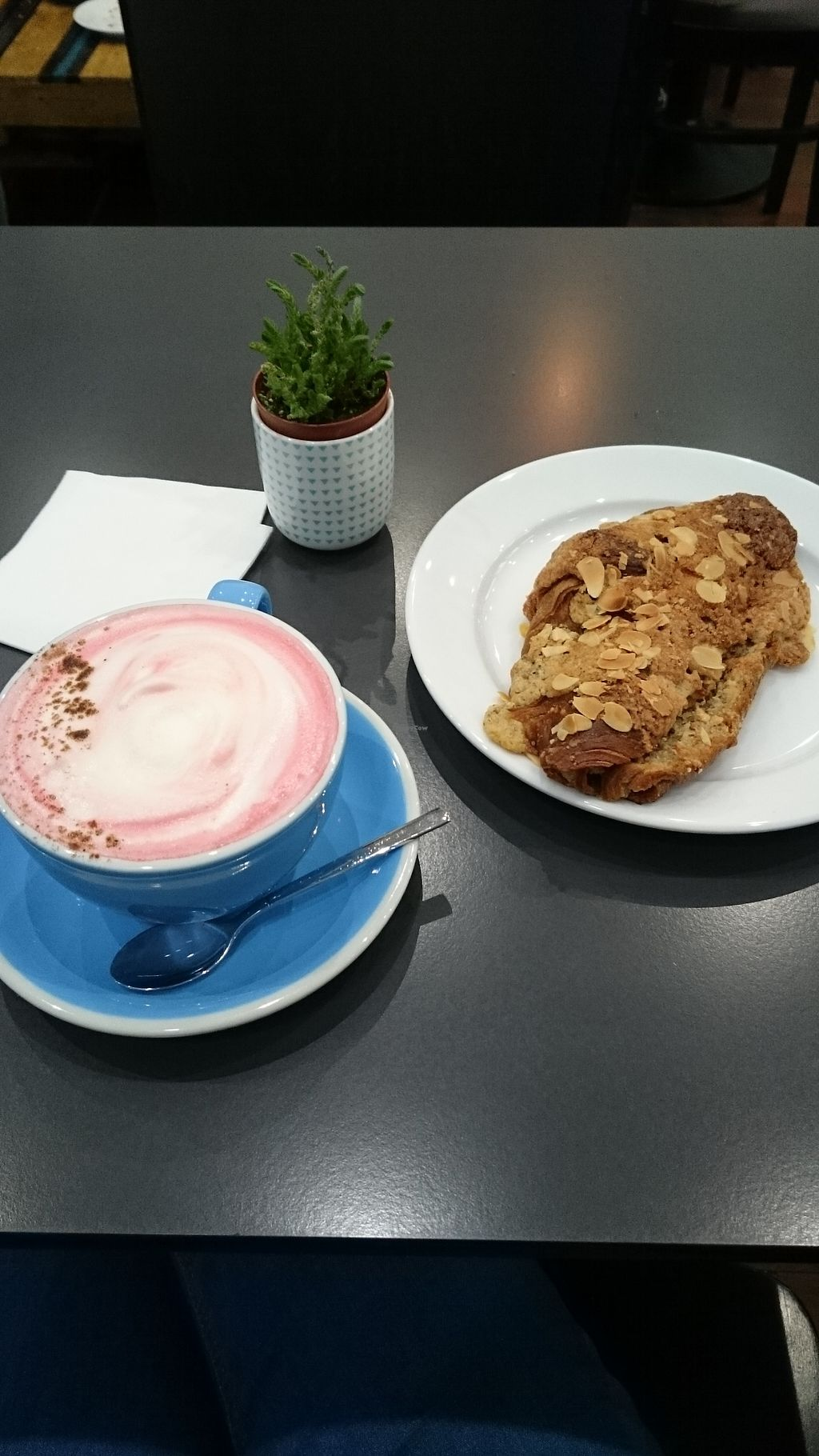 "Photo of Cloud Cakes  by <a href=""/members/profile/Layra"">Layra</a> <br/>ginger beetroot latte and almond croissant <br/> March 1, 2018  - <a href='/contact/abuse/image/80175/365501'>Report</a>"