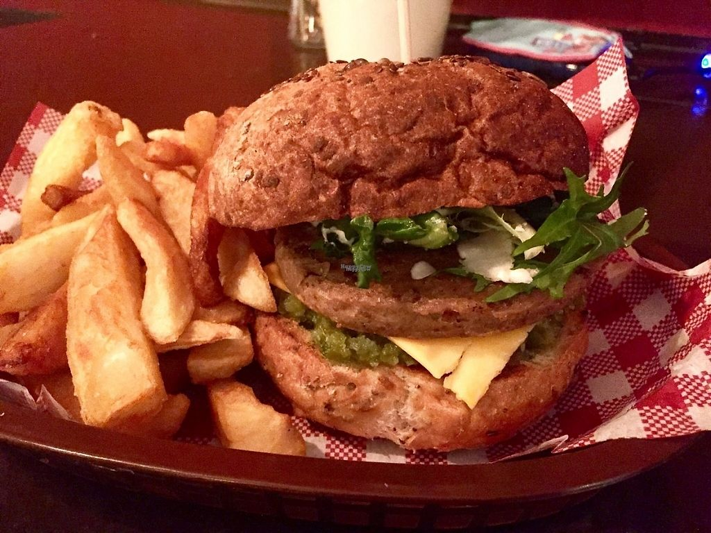 """Photo of CLOSED: The Snug Public House St Kilda  by <a href=""""/members/profile/karlaess"""">karlaess</a> <br/>Spicy burger <br/> November 27, 2016  - <a href='/contact/abuse/image/80180/194987'>Report</a>"""
