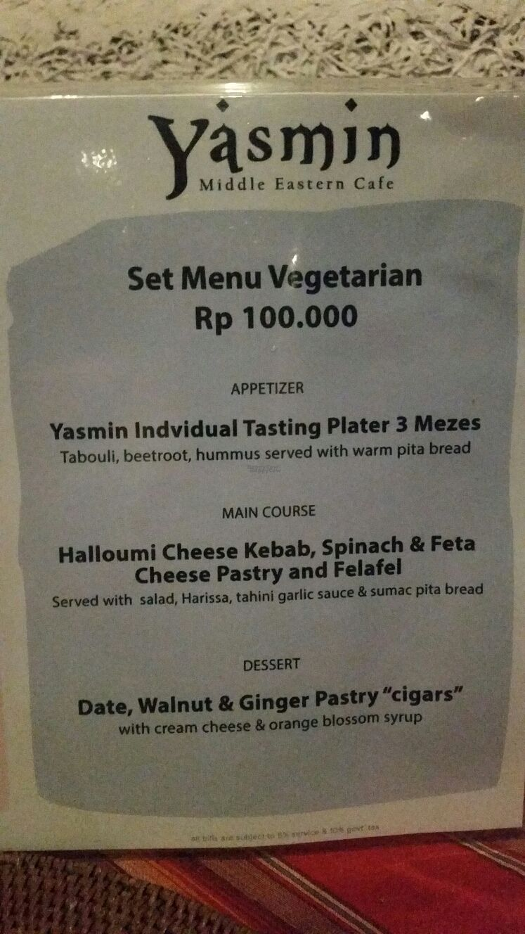 """Photo of Yasmin Middle Eastern Cafe  by <a href=""""/members/profile/Mashayla.G"""">Mashayla.G</a> <br/>set menu 2 <br/> September 17, 2016  - <a href='/contact/abuse/image/80187/176240'>Report</a>"""