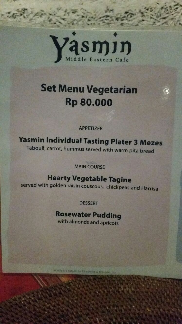 """Photo of Yasmin Middle Eastern Cafe  by <a href=""""/members/profile/Mashayla.G"""">Mashayla.G</a> <br/>set menu 1 <br/> September 17, 2016  - <a href='/contact/abuse/image/80187/176241'>Report</a>"""