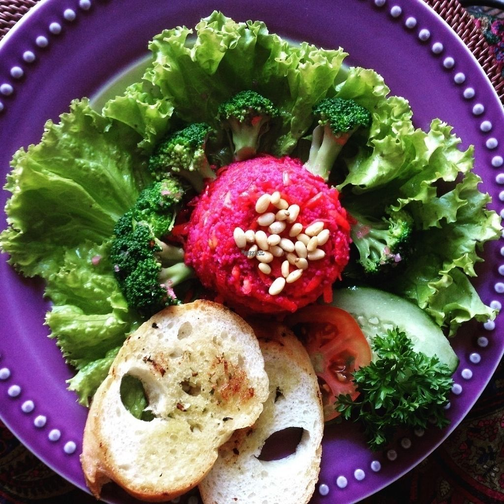"""Photo of Yasmin Middle Eastern Cafe  by <a href=""""/members/profile/KarmaPhala"""">KarmaPhala</a> <br/>Superfood Salad With couscous, raw beet, carrot & broccoli, moroccan dressing topped with sunflower & pumpkin seeds & toasted pinenuts <br/> October 12, 2016  - <a href='/contact/abuse/image/80187/181564'>Report</a>"""