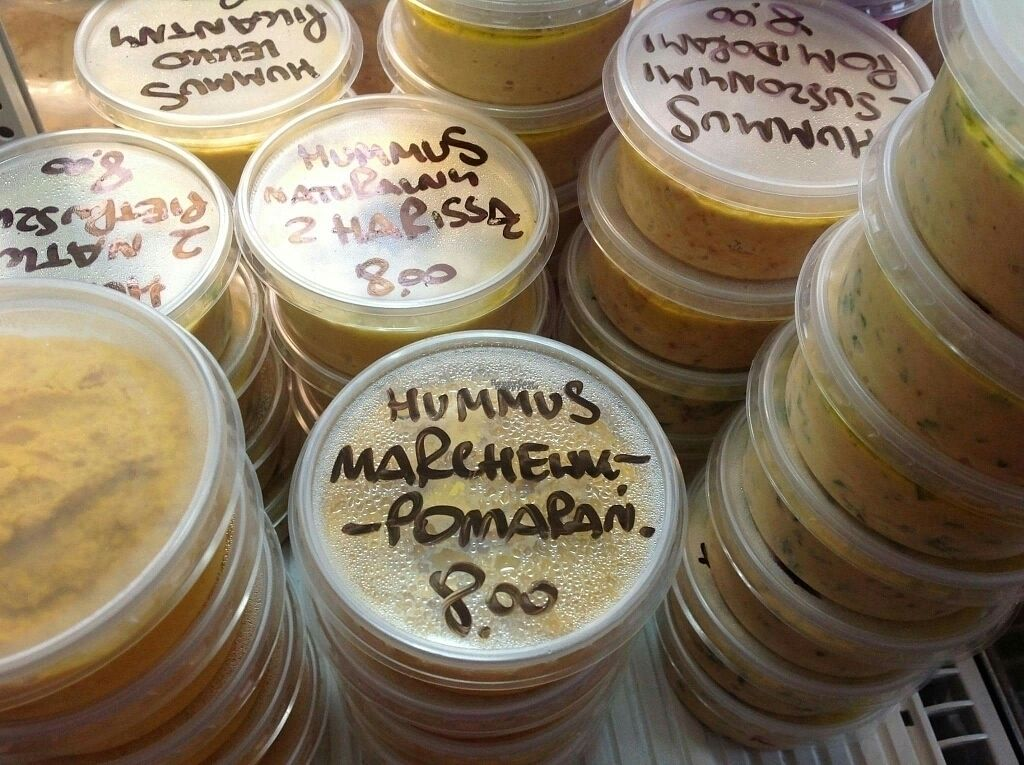 """Photo of Stragan Ekologiczny  by <a href=""""/members/profile/Meaks"""">Meaks</a> <br/>Fresh variety of hummus <br/> September 16, 2016  - <a href='/contact/abuse/image/80218/176183'>Report</a>"""
