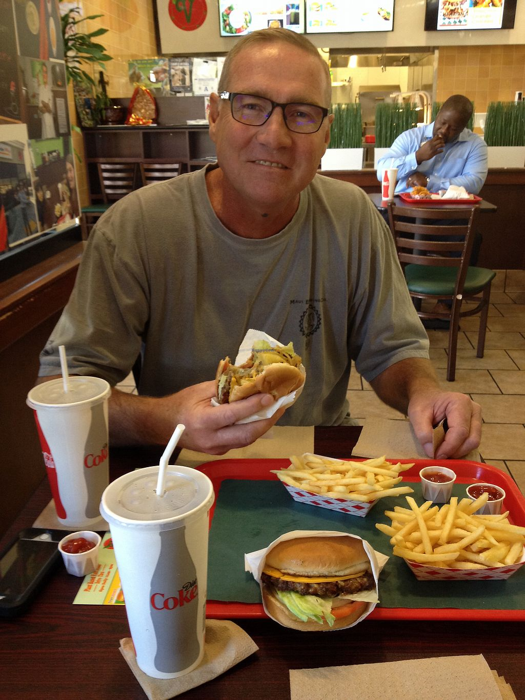 """Photo of VegeWay - S Jones  by <a href=""""/members/profile/Kaylaveggin"""">Kaylaveggin</a> <br/>Enjoying our Hawaiian and Burger Meal combos! <br/> October 20, 2017  - <a href='/contact/abuse/image/80254/317048'>Report</a>"""