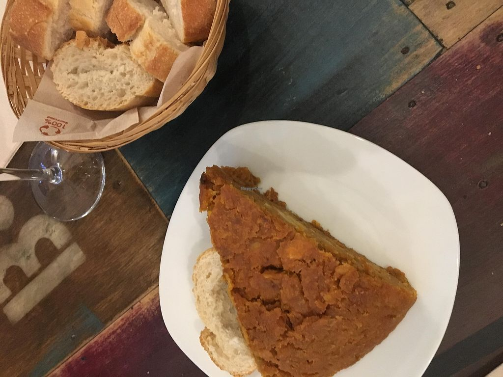 "Photo of El Perro Gamberro  by <a href=""/members/profile/sian_ractliffe"">sian_ractliffe</a> <br/>Delicious pincho/slice of tortilla served with homemade bread (3.50 euros) <br/> March 17, 2018  - <a href='/contact/abuse/image/80267/372053'>Report</a>"