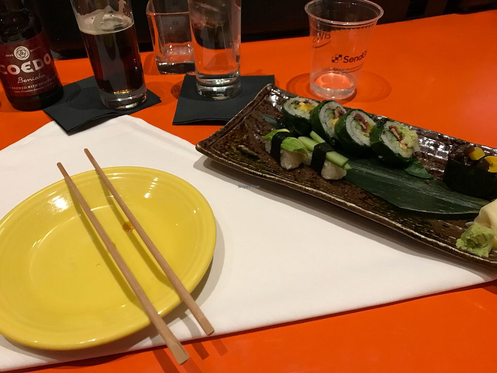 "Photo of SushiSamba  by <a href=""/members/profile/Teisei"">Teisei</a> <br/>Vegan Sushi <br/> November 27, 2017  - <a href='/contact/abuse/image/80283/329829'>Report</a>"