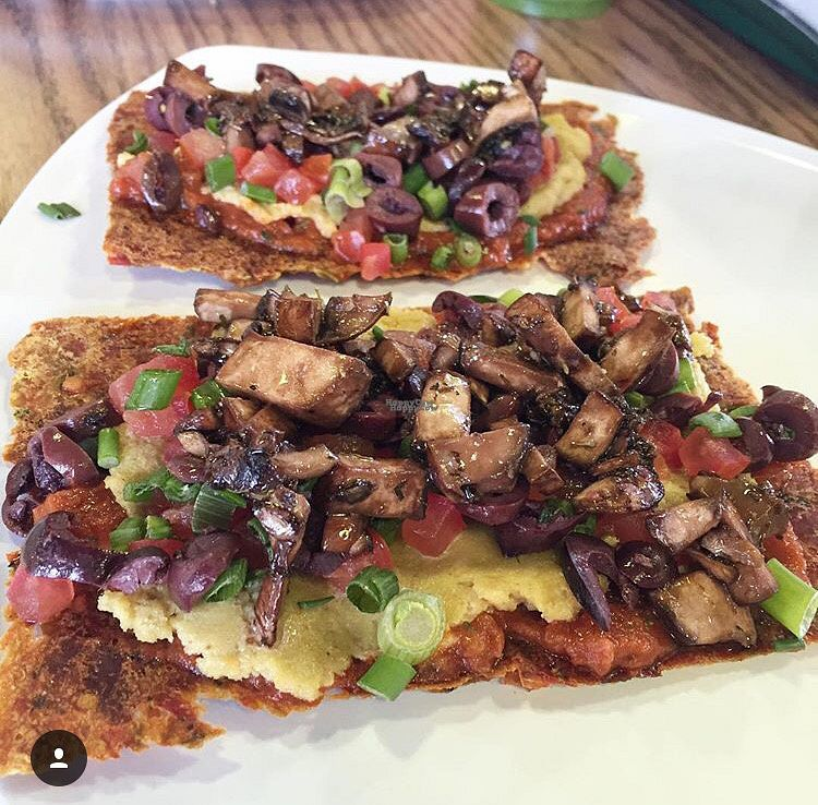"""Photo of Greens and Proteins - Decatur  by <a href=""""/members/profile/JSanchez487"""">JSanchez487</a> <br/>Raw vegan pizza <br/> September 19, 2016  - <a href='/contact/abuse/image/80291/176611'>Report</a>"""