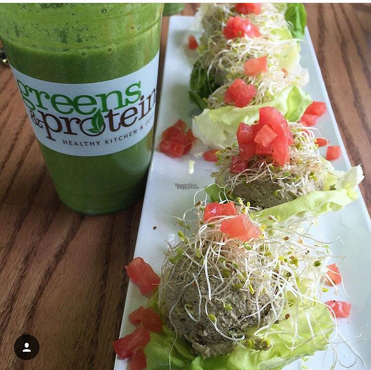 """Photo of Greens and Proteins - Decatur  by <a href=""""/members/profile/JSanchez487"""">JSanchez487</a> <br/>Raw Mock Chicken Salad & Wellness Drink <br/> September 19, 2016  - <a href='/contact/abuse/image/80291/176612'>Report</a>"""