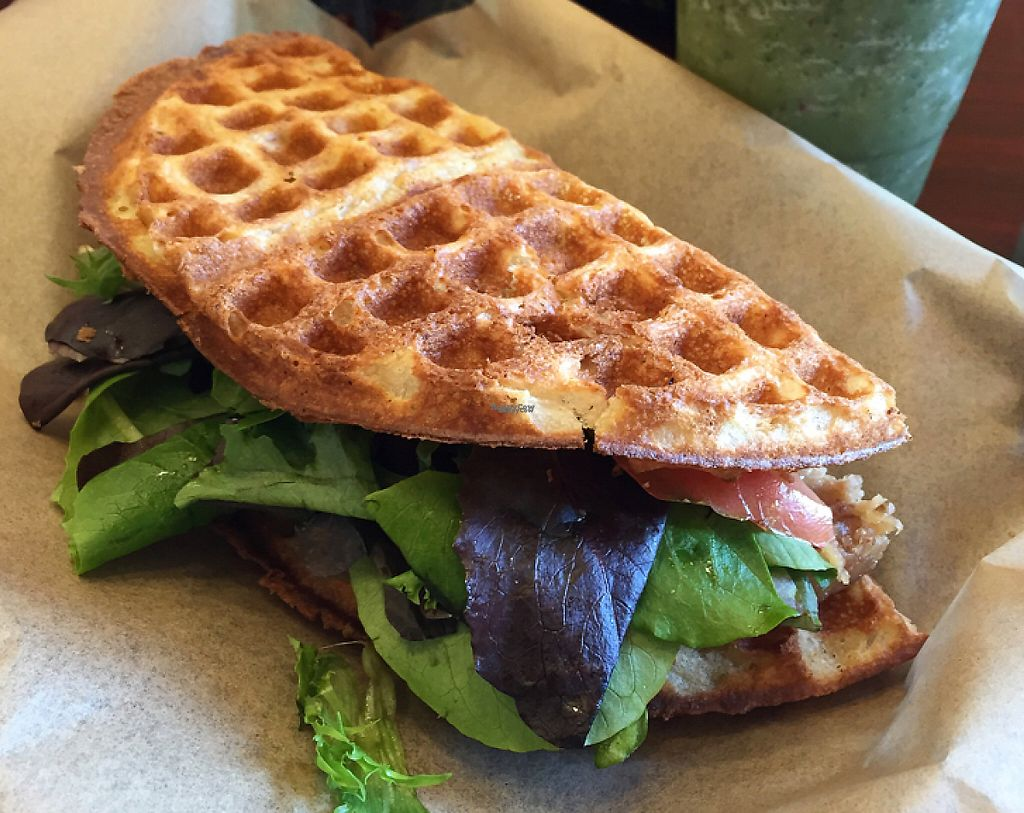 """Photo of CLOSED: Tiabi Coffee and Waffle Bar -  Simmons St  by <a href=""""/members/profile/JSanchez487"""">JSanchez487</a> <br/>Guru burger <br/> September 26, 2016  - <a href='/contact/abuse/image/80293/208139'>Report</a>"""