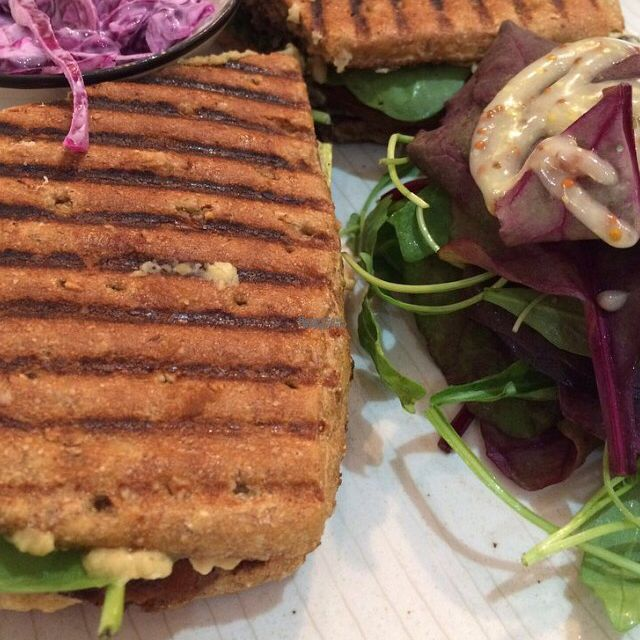 "Photo of Kaffe O - Botanic  by <a href=""/members/profile/CiaraSlevin"">CiaraSlevin</a> <br/>Brod sandwich with black bean hummus, roast veg & spinach <br/> September 19, 2016  - <a href='/contact/abuse/image/80297/176696'>Report</a>"