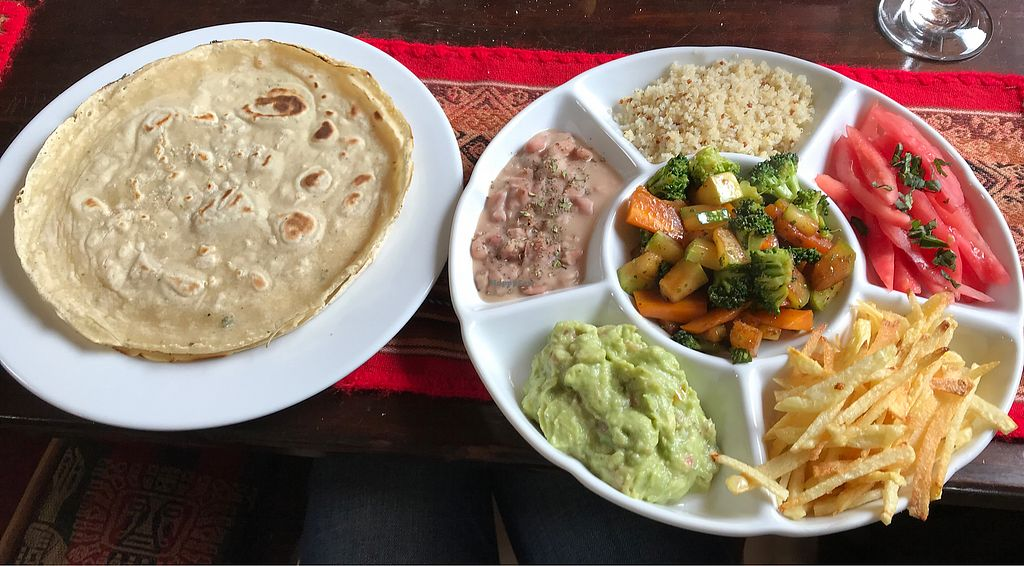 """Photo of Puka Rumi  by <a href=""""/members/profile/imogenmichel"""">imogenmichel</a> <br/>Vegan burrito <br/> January 13, 2018  - <a href='/contact/abuse/image/80299/346293'>Report</a>"""