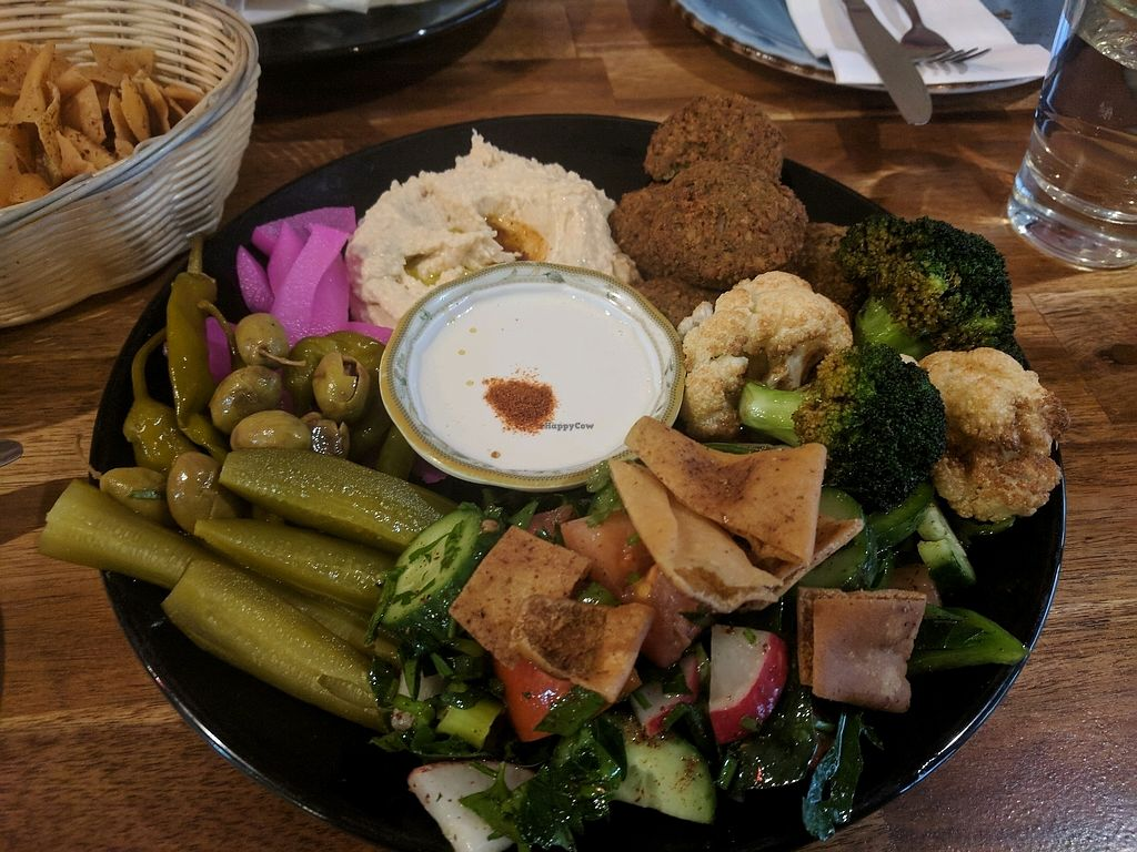 "Photo of Agrabar  by <a href=""/members/profile/VeganSoapDude"">VeganSoapDude</a> <br/>Vegan mixed lunch platter <br/> September 15, 2017  - <a href='/contact/abuse/image/80306/304621'>Report</a>"