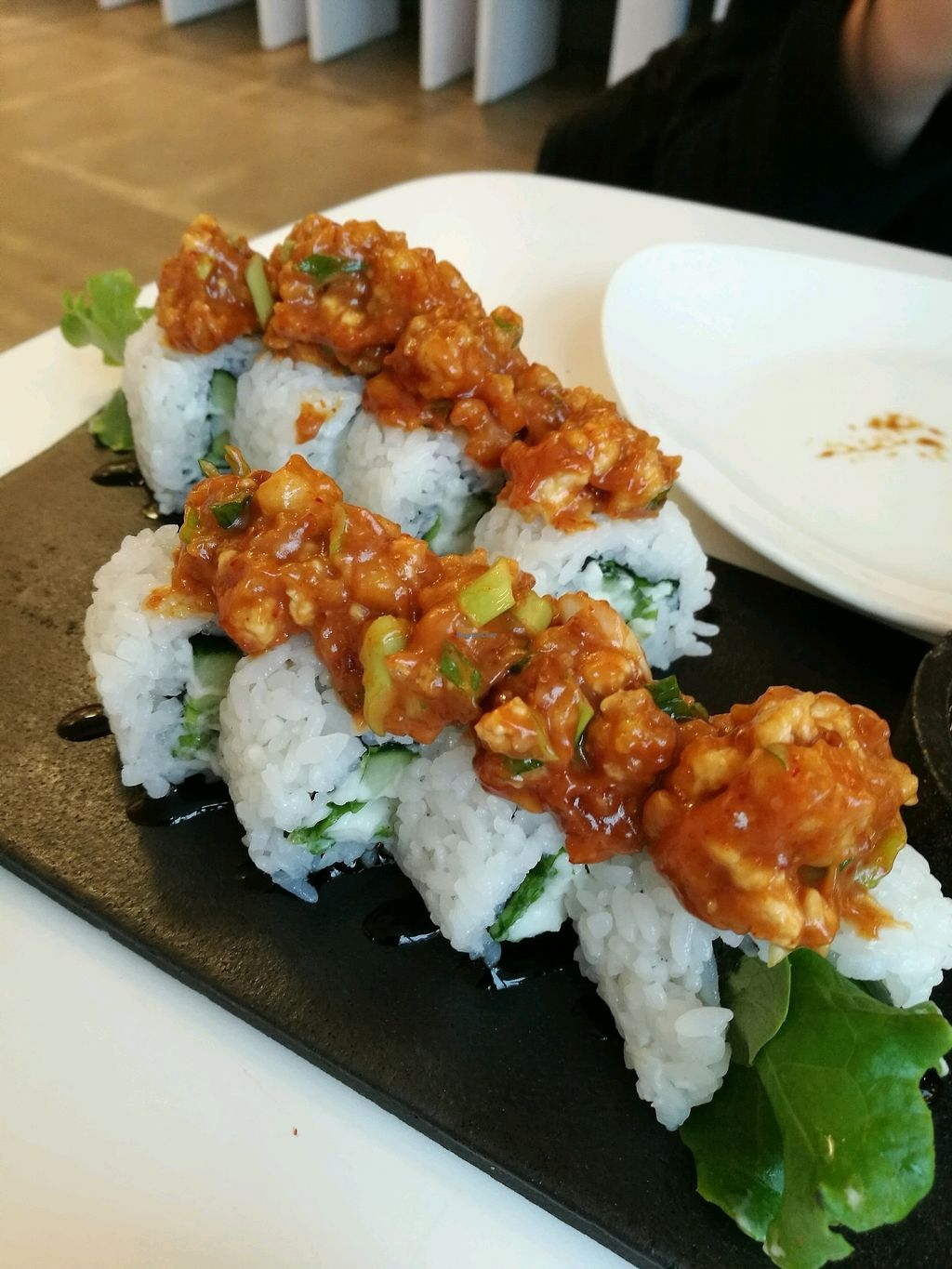 "Photo of Tokumaru   by <a href=""/members/profile/helsinkigoesvegan"">helsinkigoesvegan</a> <br/>spicy tofu maki <br/> February 17, 2018  - <a href='/contact/abuse/image/80315/360330'>Report</a>"