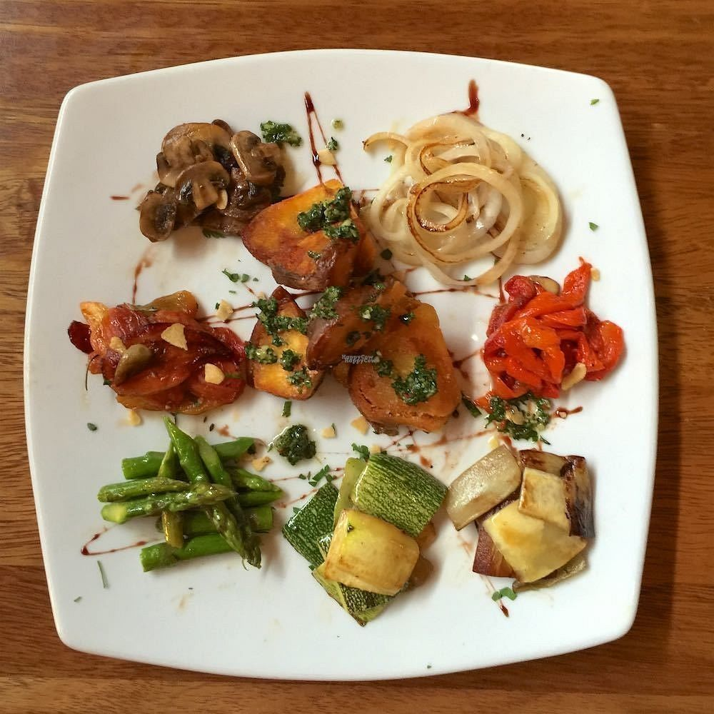 "Photo of Tree House  by <a href=""/members/profile/earthville"">earthville</a> <br/>Roasted vegetable plate - yum! <br/> September 19, 2016  - <a href='/contact/abuse/image/80321/176843'>Report</a>"
