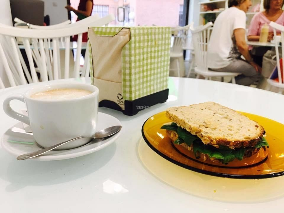 """Photo of Sweet Paradise  by <a href=""""/members/profile/SweetParadise"""">SweetParadise</a> <br/>White coffee and spinach sandwich <br/> October 14, 2016  - <a href='/contact/abuse/image/80328/182030'>Report</a>"""