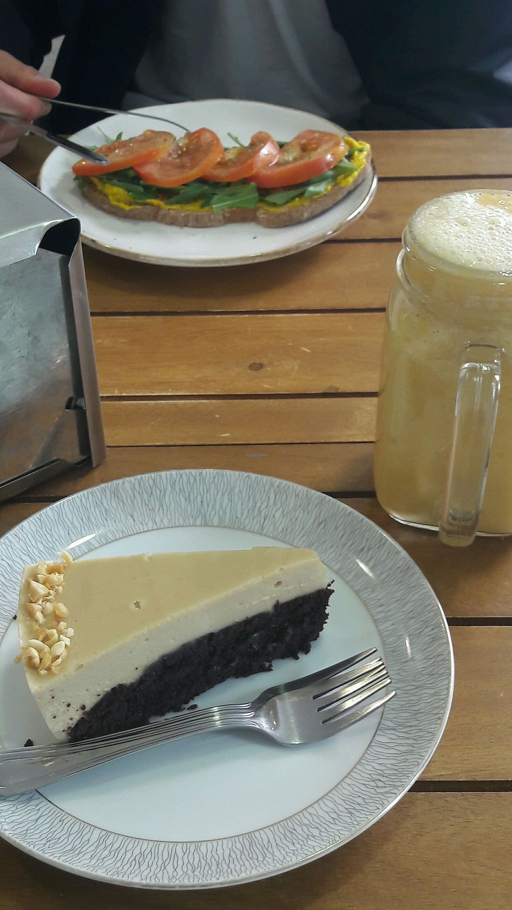 """Photo of Sweet Paradise  by <a href=""""/members/profile/ManuelaEden"""">ManuelaEden</a> <br/>Brownie peanut cake and Hummus sandwich <br/> February 5, 2018  - <a href='/contact/abuse/image/80328/355259'>Report</a>"""