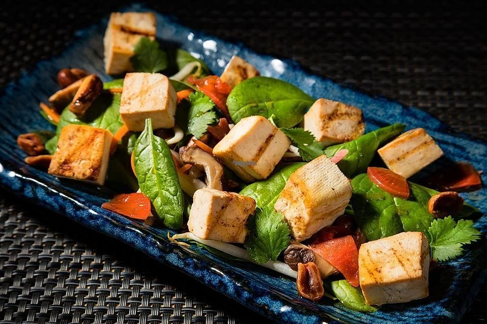"""Photo of Dom Sushi  by <a href=""""/members/profile/RoslinnieJemy"""">RoslinnieJemy</a> <br/>tofu salad <br/> September 23, 2016  - <a href='/contact/abuse/image/80329/177614'>Report</a>"""