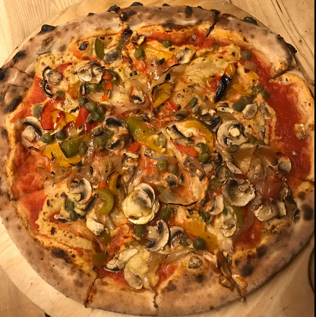 """Photo of Hop Yard Brewing Co  by <a href=""""/members/profile/MissPrince"""">MissPrince</a> <br/>Home-made pizza with cashew cheese <br/> December 4, 2016  - <a href='/contact/abuse/image/80353/197268'>Report</a>"""