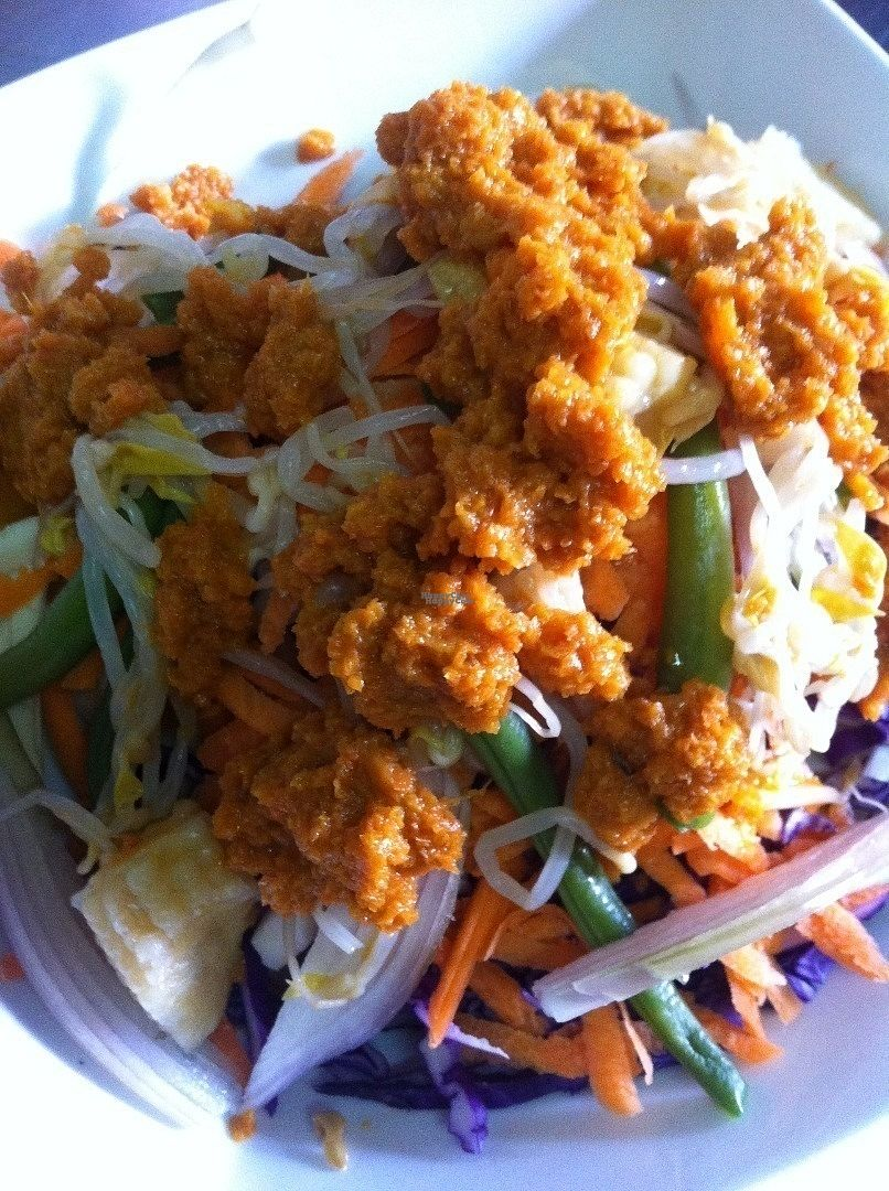"""Photo of Cafe du Livre  by <a href=""""/members/profile/Lizcafedulivre"""">Lizcafedulivre</a> <br/>One of our Vegan salad options. This is the salad Asiatique, with carrot soy dressing, baby corn, green beans, onion, etc. Special of the day.  <br/> September 21, 2016  - <a href='/contact/abuse/image/80364/177244'>Report</a>"""