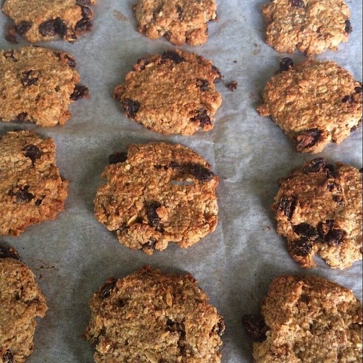 """Photo of Happy Healthy Food  by <a href=""""/members/profile/community"""">community</a> <br/>Banana Oatmeal & Raisin Cookies  <br/> October 1, 2016  - <a href='/contact/abuse/image/80375/178910'>Report</a>"""