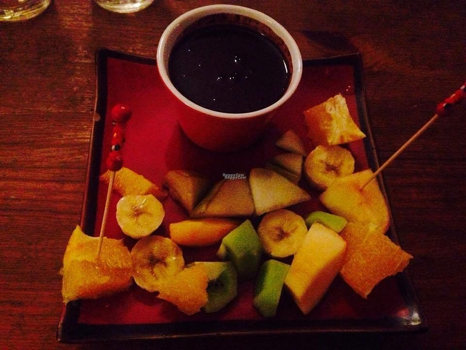 """Photo of Coco Boheme  by <a href=""""/members/profile/Kyttiara"""">Kyttiara</a> <br/>Fondue au chocolat: Make it vegan and ask without milk. Comes with fruits to dip in! <br/> September 26, 2016  - <a href='/contact/abuse/image/80385/178062'>Report</a>"""