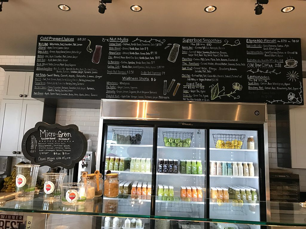 """Photo of Fruits & Roots Juice Bar  by <a href=""""/members/profile/PiaP.Prosser"""">PiaP.Prosser</a> <br/>Huge menu <br/> November 16, 2017  - <a href='/contact/abuse/image/80394/326208'>Report</a>"""