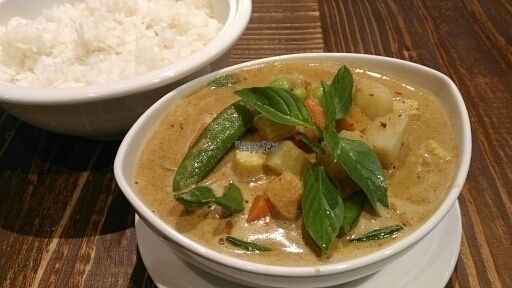 """Photo of Fan Thai - Vegetarian Thai Food  by <a href=""""/members/profile/JesseD"""">JesseD</a> <br/>Red curry <br/> October 20, 2016  - <a href='/contact/abuse/image/80397/183175'>Report</a>"""