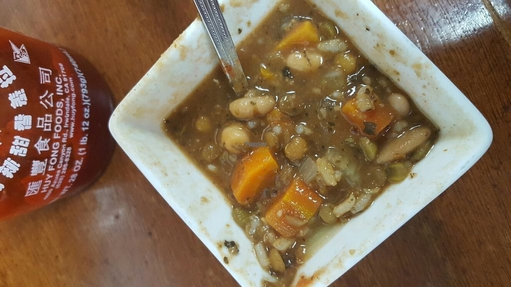 """Photo of Ms. Mary's and Pete Too  by <a href=""""/members/profile/AmyWilson"""">AmyWilson</a> <br/>plant based minestrone was delish <br/> October 12, 2016  - <a href='/contact/abuse/image/80439/181588'>Report</a>"""
