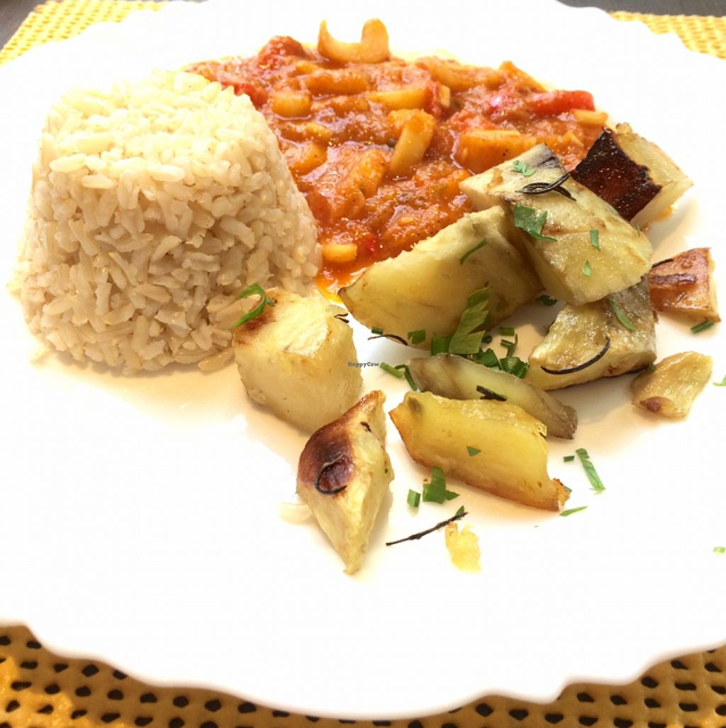"""Photo of Goa  by <a href=""""/members/profile/Isis%20Galvao"""">Isis Galvao</a> <br/>Integral rice, sweet potatoes with rosemary and figs/palm 'moqueca'  <br/> January 31, 2016  - <a href='/contact/abuse/image/8043/134486'>Report</a>"""