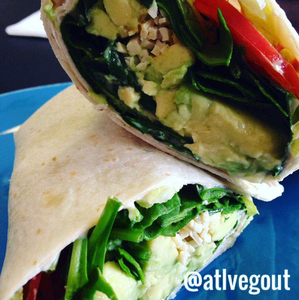 """Photo of Cool Breeze Smoothie & Juice Bar  by <a href=""""/members/profile/calamaestra"""">calamaestra</a> <br/>spicy avocado wrap <br/> January 16, 2017  - <a href='/contact/abuse/image/80446/212559'>Report</a>"""
