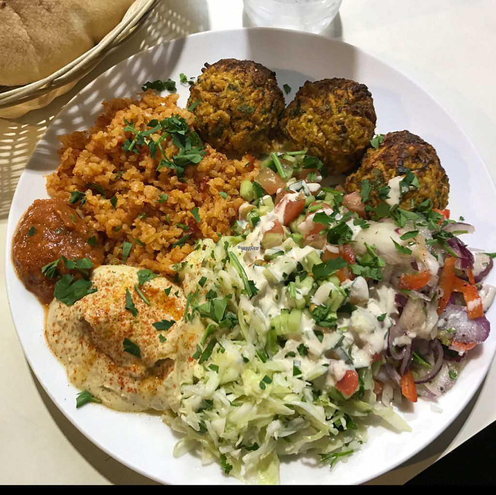 """Photo of Falafel Mevorach  by <a href=""""/members/profile/Brok%20O.%20Lee"""">Brok O. Lee</a> <br/>Veg patties and salads  <br/> March 6, 2017  - <a href='/contact/abuse/image/80470/233479'>Report</a>"""