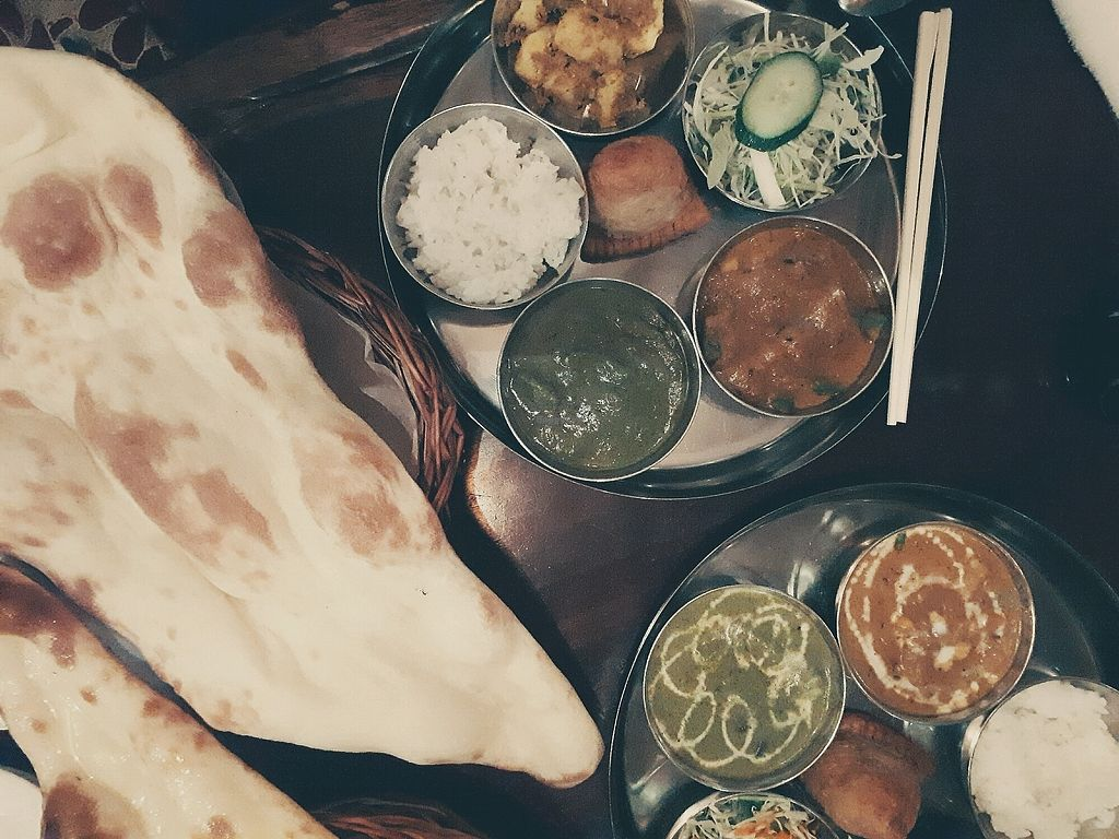 "Photo of Indian Nepali Restaurant Himalaya  by <a href=""/members/profile/StephanieStutz"">StephanieStutz</a> <br/>Dish with several curries, potato salad, rice and naan bread <br/> September 26, 2017  - <a href='/contact/abuse/image/80522/308666'>Report</a>"