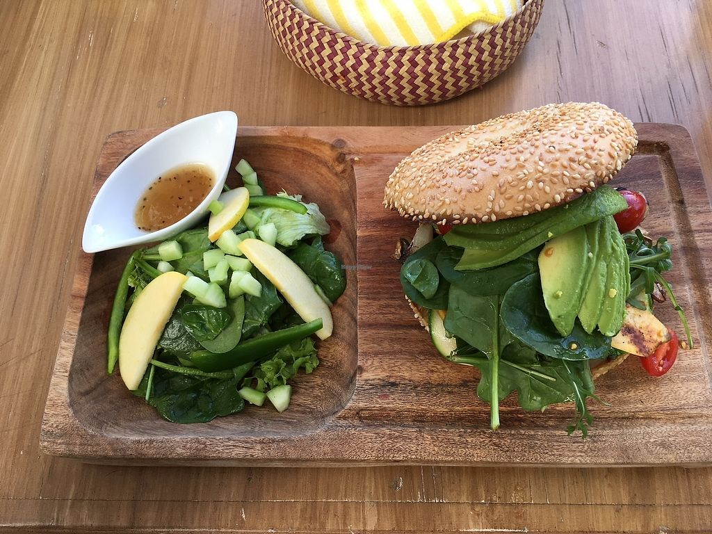 """Photo of Mako Vegan and Veggie Restaurant  by <a href=""""/members/profile/ChristyStef"""">ChristyStef</a> <br/>The vegan bagel <br/> December 24, 2017  - <a href='/contact/abuse/image/80535/338547'>Report</a>"""