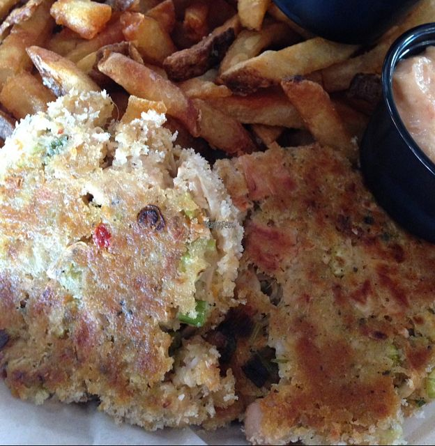 """Photo of Smithtown Seafood  by <a href=""""/members/profile/Ariana27"""">Ariana27</a> <br/>Vegan Jackfruit Crab Cakes <br/> October 26, 2016  - <a href='/contact/abuse/image/80546/184582'>Report</a>"""
