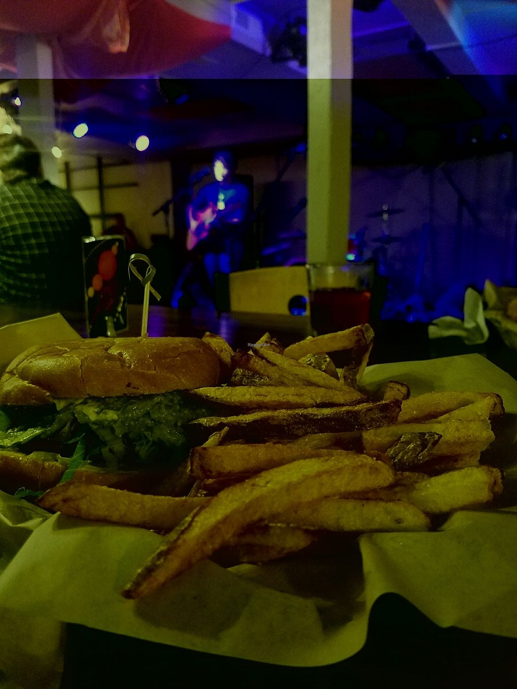 """Photo of The Space  by <a href=""""/members/profile/MaddieSteffe"""">MaddieSteffe</a> <br/>guacamole burger w/fresh hand cut fries! <br/> October 17, 2017  - <a href='/contact/abuse/image/80552/315991'>Report</a>"""