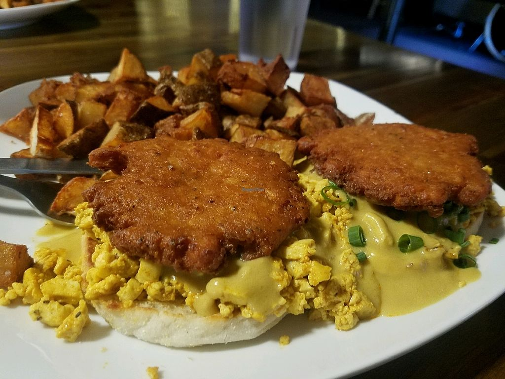 """Photo of The Space  by <a href=""""/members/profile/MaddieSteffe"""">MaddieSteffe</a> <br/>Brunch at the Space! we ordered the Breakfast Sandwich and the Sons of Salem (benedict) <br/> March 27, 2018  - <a href='/contact/abuse/image/80552/376943'>Report</a>"""