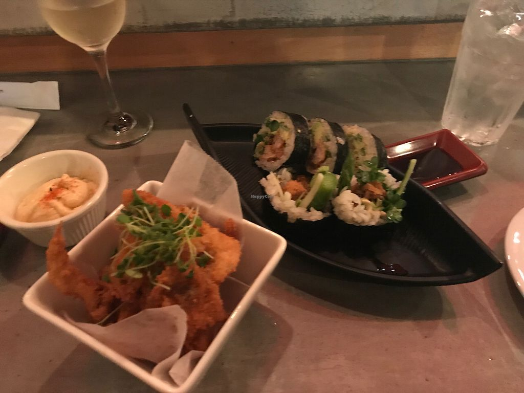"""Photo of Lou's Sushi  by <a href=""""/members/profile/Breda"""">Breda</a> <br/>Vegan mushroom tenders and vegan spider <br/> February 22, 2018  - <a href='/contact/abuse/image/80553/362523'>Report</a>"""