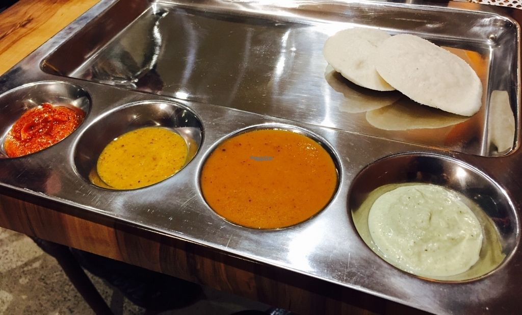 """Photo of Dosa Joy  by <a href=""""/members/profile/karlaess"""">karlaess</a> <br/>Idli and dipping sauces <br/> September 30, 2016  - <a href='/contact/abuse/image/80554/178731'>Report</a>"""