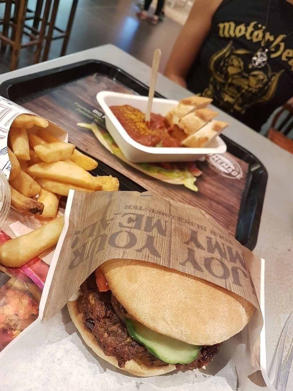 """Photo of Burgermeister der Grill  by <a href=""""/members/profile/Phoenix1973"""">Phoenix1973</a> <br/>Kidney Bean Burger and Curry Wurst <br/> June 6, 2017  - <a href='/contact/abuse/image/80569/266245'>Report</a>"""