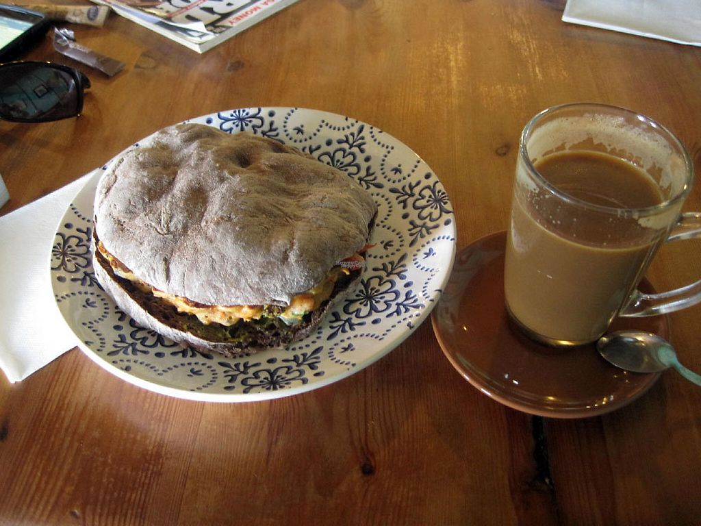"""Photo of Mandala  by <a href=""""/members/profile/Babette"""">Babette</a> <br/>Bombay sandwich with coffee <br/> December 21, 2016  - <a href='/contact/abuse/image/80570/203834'>Report</a>"""