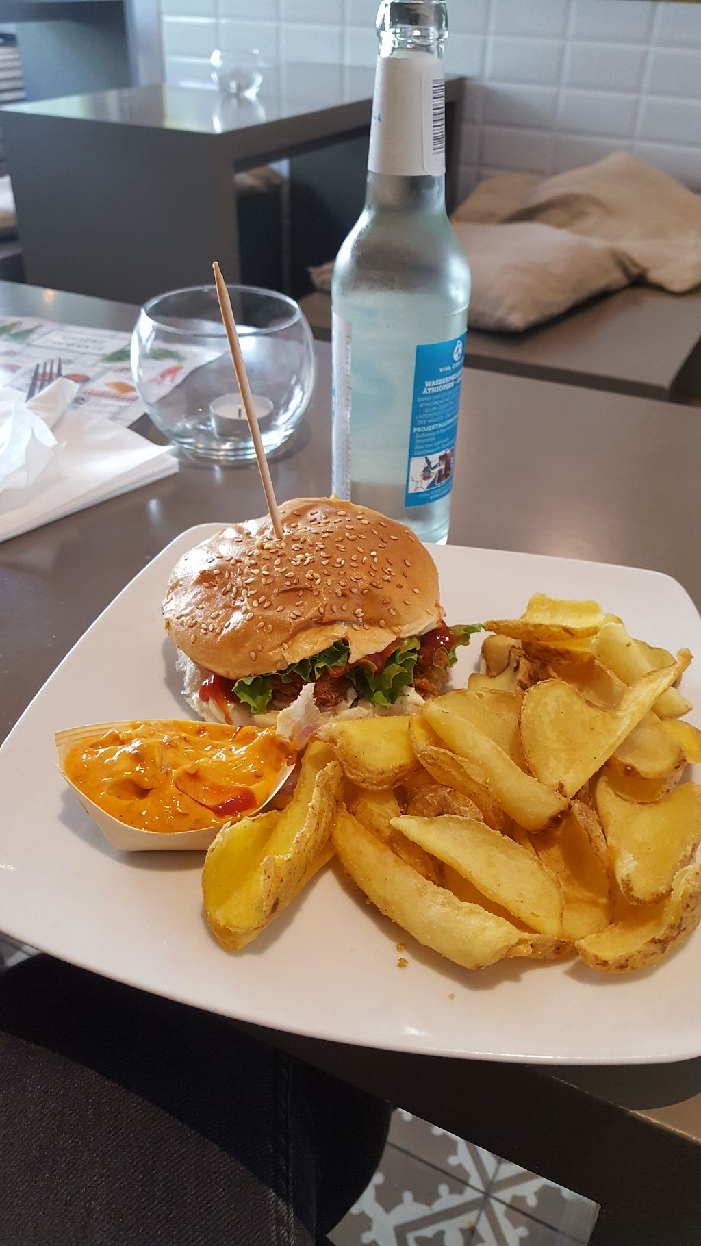 """Photo of Der Vegetarische Metzger  by <a href=""""/members/profile/sevolo"""">sevolo</a> <br/>Vegan crsipy chicken burger <br/> April 23, 2018  - <a href='/contact/abuse/image/80572/390016'>Report</a>"""