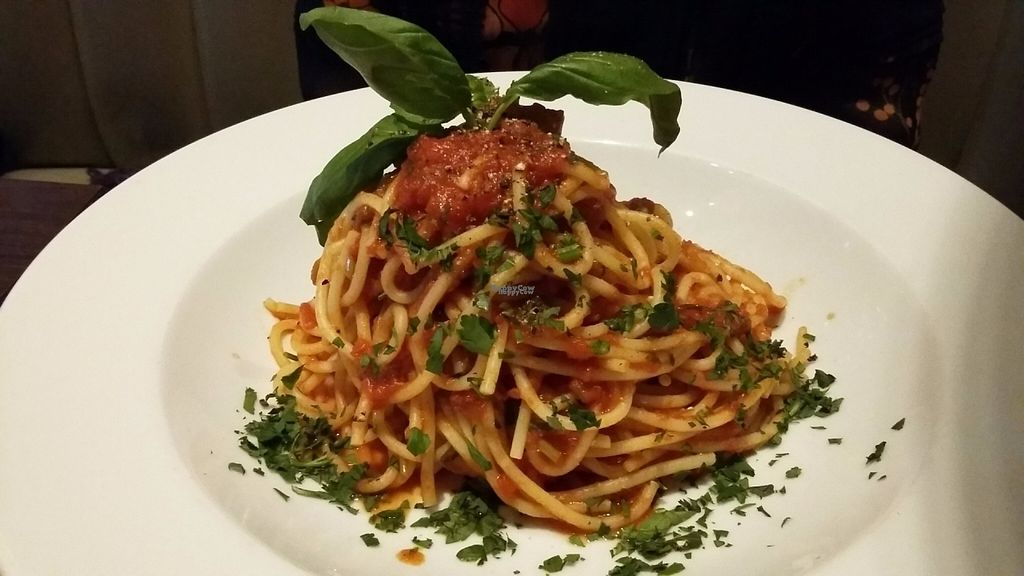 """Photo of Carluccio's  by <a href=""""/members/profile/Veganolive1"""">Veganolive1</a> <br/>Spaghetti Pomodoro <br/> September 25, 2016  - <a href='/contact/abuse/image/80605/177949'>Report</a>"""